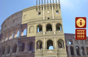 Ricostruzione del Colosseo in realtà aumentata