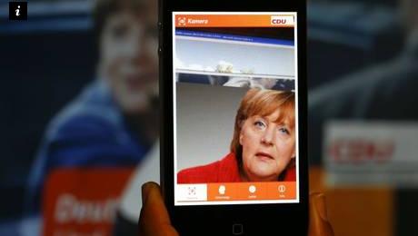 Merkel app in realtà aumentata