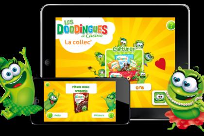 app realtà aumentata del marchio Les Doodingues