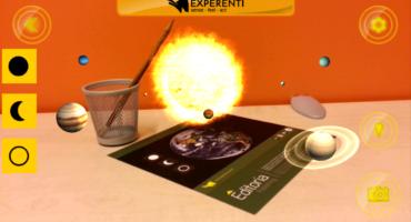 sistema solare in realtà aumentata di Experenti 2.0