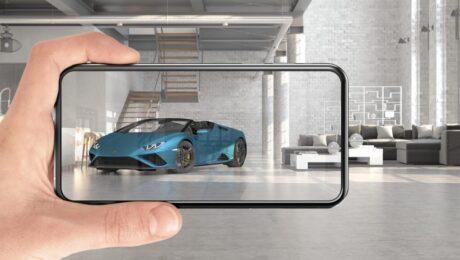 Lancio della nuova Lamborghini Huracan con la realtà aumentata